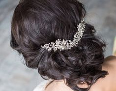 Wedding Hair Comb Bridal Hair Comb Bridal Head Piece by EnzeBridal