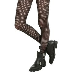 Hot Topic Black Small Grid Cut-Out Tights ($10) ❤ liked on Polyvore featuring intimates, hosiery, tights, cut out tights, fishnet pantyhose, fishnet hosiery, fishnet stockings and fishnet tights