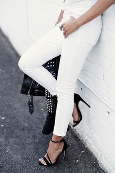 VivaLuxury - Fashion Blog by Annabelle Fleur: STARK - THE KOOPLES Studded leather jacket | RAG & BONE/JEAN classic tee | CITIZENS OF HUMANITY Avedon ankle skinny jeans | CARVELA Gosh black strap heeled sandals via ASOS | ILLESTEVA Hamilton sunglasses | DYLANLEX bracelet & rings  June 18, 2015