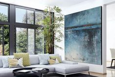 extra large abstract painting on canvas,extra large wall art,original oil painting,living room wall art,hand painted abstract painting Contemporary Abstract Art, Modern Wall Art, Large Canvas Art, Canvas Wall Art, Grand Art Mural, Blue Abstract Painting, Abstract Paintings, Large Painting, Art Paintings