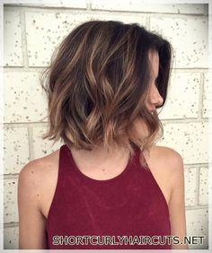 Wavy Bob Hairstyles, Haircuts For Fine Hair, Cool Haircuts, Hairstyles 2018, Wedding Hairstyles, Cute Short Hairstyles, 2018 Haircuts, Hairstyles Pictures, Casual Hairstyles