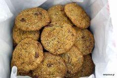 Μπισκότα με βρώμη και σοκολάτα Nigella, Healthy Sweets, Cookie Recipes, Banana Bread, Biscuits, Caramel, Muffin, Food And Drink, Cookies
