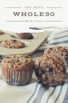 The Best Muffins The most fluffy approved muffins. Low carb, paleo friendly, gluten free and keto complaint these muffins will meet any and all dietary needs. Whole 30 Crockpot Recipes, Whole30 Dinner Recipes, Whole 30 Recipes, Paleo Recipes, Whole Food Recipes, Dessert Recipes, Desserts, Detox Recipes, Whole 30 Dessert