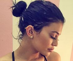 Kylie Jenner has also got the edgy piercing...