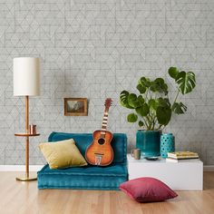 We offer a variety of modern wallpaper designs, including floral, geometric, and textured wallpaper. Find new modern wallpaper ideas at Covered Wallpaper. Dining Room Wallpaper, Office Wallpaper, Cover Wallpaper, Bathroom Wallpaper, Wallpaper Samples, Geometric Wallpaper Design, Modern Wallpaper Designs, Metallic Wallpaper, Graphic Wallpaper