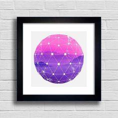 Quadro Purple and Pink Mountains - Encadreé Posters