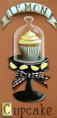 Lemon Cupcake Poster By Catherine Holman