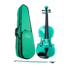 Amazon.com: Metallic Green Violin 4/4 Full Size, Green Violin Case , Green Violin Bow by Archetto Ireland: Musical Instruments