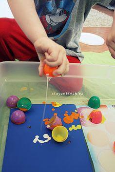 egg crack painting #crayonfreckles