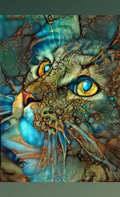 I'm also - do digital art on here. Nothing here is mine unless credited to me. Galaxy Cat, Animal Paintings, Ink Art, Beautiful Artwork, Painting Techniques, Art Drawings, Abstract Art, Illustration Art, Cats