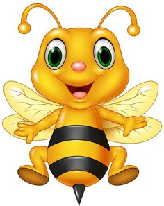 Illustration of Vector illustration of Cartoon funny bee flying. isolated on white background vector art, clipart and stock vectors. Cartoon Bee, Cute Cartoon, Cute Bee, Clip Art, Bee Art, Cute Clipart, Bee Happy, Funny Cartoons, Smiley
