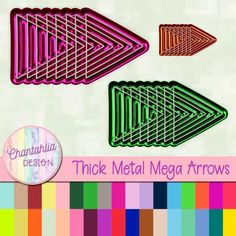 Instantly download these free arrow elements / embellishments. Use them in your digital scrapbooking, digital planner, card making and more. The set includes one paper in 36 colours.
