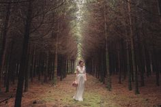 Woodsy DIY Wedding In Belgium By Jonas Peterson Photography // bride wears Jenny Packham // photo by @Jonas Andersen Andersen Peterson