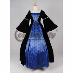 Find More Clothing Information about Custom Made Black and Blue Victorian Medieval gothic ball grown costume Dress D0126,High Quality dress act,China dress shoes with jeans Suppliers, Cheap dress for thick waist from My Cosplay World on Aliexpress.com