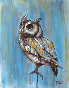 Owl Painting  Giclee Print  Owl Art Owls by OneSmallSparrow, $25.00