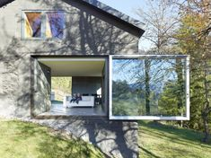 architecture project Savioz House Barn Converted into Minimalist Holiday House in Ayent, Switzerland