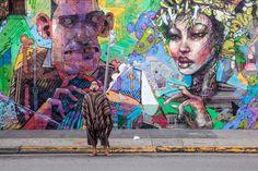 David Choe and Aryz Mural, Los Angeles