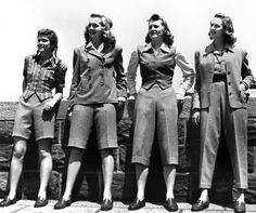 1940s Suits For Women. cropped trousers