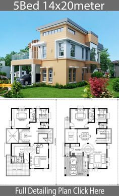 Home Design Plan with 5 Bedrooms - Home Ideas - - Home Design Plan with 5 Bedrooms – Home Ideas House Home Design Plan mit 5 Schlafzimmern – Home Design mit Plansearch House Floor Design, Home Design Floor Plans, Architectural Design House Plans, Small House Design, Modern House Design, Architecture Design, House Plans Mansion, Dream House Plans, House Layout Plans