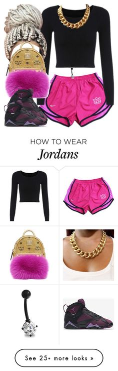 """✨"" by newtrillvibes on Polyvore featuring NIKE, MCM, Bling Jewelry, women's clothing, women, female, woman, misses and juniors"