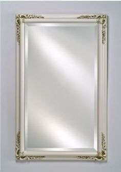 """Afina Corporation SD1626RBSXPWT 16 in.x 26 in.Single Door Basix Plus Medicine Cabinet - Antique White by Afina Corporation. $305.00. Dimensions: 16 x 26.. Finish: Antique White.. No Unsightly Hinges.. Bevel Front Mirror.. Inside Mirrored Back.. Recessed Basix Plus. Finish: Antique White. Dimensions: 16"""" x 26"""". Bevel Front Mirror. Inside Mirrored Back. No Unsightly Hinges. Adjustable Glass Shelves. 140° + Door Swing Opening. Recessed. Solid Wood Frames."""