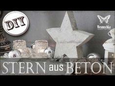 DIY : WEIHNACHTSDEKO STERN aus BETON | Christmas decoration STAR of concrete - YouTube