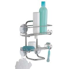 2. InterDesign Classico Suction Bathroom Shower Caddy Shelves