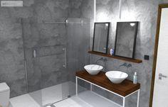 Odlehčený koupelnový nábytek na zakázku Toilet, Bathtub, Bathroom, Projects, Minimalism, Standing Bath, Washroom, Log Projects, Flush Toilet