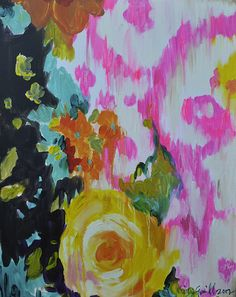 Colorful Art by Kristy Gammill - Design Milk Art And Illustration, Illustrations, Scheme Color, Motif Floral, Painting Inspiration, Color Inspiration, Textures Patterns, Art Photography, Art Gallery