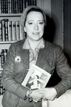 "1953 - Holding a copy of her autobiography, [i]Shocking Life[/i].  [b][link url=""http://www.vogue.co.uk/spy/biographies/elsa-schiaparelli""]READ ELSA SCHIAPARELLI'S BIOGRAPHY[/link][/b]"