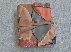 Patchwork Leather Journal / Sketchbook / by FolkOfTheWoodCrafts, $45.00