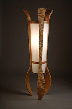 Wood Floor Lamp