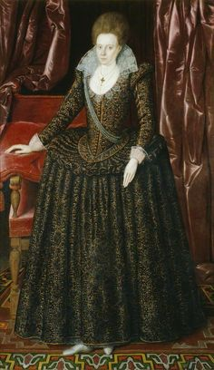 Lady Arabella Stuart, Cousin of King James I by Marcus Gheeraerts the younger, unknown artist (Government Art Collection). Arabella was the daughter of Margaret Douglas and granddaughter of Queen Margaret. Elizabeth Bathory, Mary Queen Of Scots, Queen Elizabeth, Somerset, Adele, Margaret Tudor, House Of Stuart, King James I, Lady