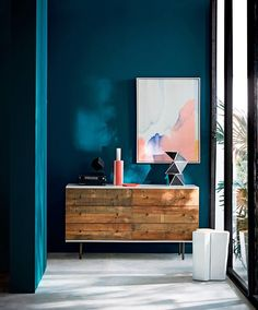 Moody deep blue green: check out the west elm + Sherwin-Williams paint color collection for Spring '17! (This one is called Oceanside!)  #Regram via @westelm