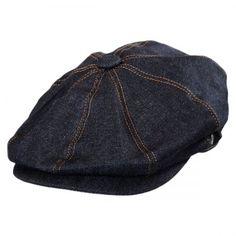 Denim Cotton Newsboy Cap available at  Loehmanns Jaxon Hats 36b03396bc04