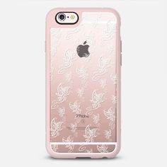 Flight of the Butterflies White - Transparent - New Standard Case @casetify #Casetify #iphonecase #iphone6 #phonecover #butterflies #white #clearcase #rosegold