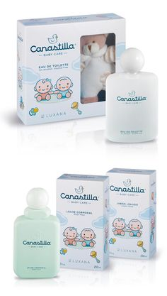 Canastilla Kids Packaging, Cosmetic Packaging, Cute Packaging, Brand Packaging, Kids Perfume, Medicine Packaging, Packaging Design Inspiration, Brand Inspiration, Baby Skin Care