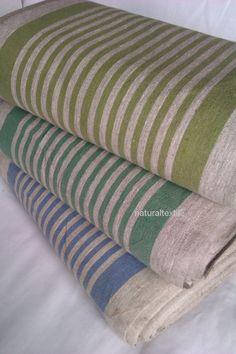 100% LINEN Decorator Fabric Flax Upholstery - EUROPEAN FLAX - Natural Gray Heavy Weight - yardage. $3.95, via Etsy.