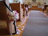 i do NOT want those tall candle rod things at the end of the pews, nor do i want cheesy looking bows...this is a nice alternative.
