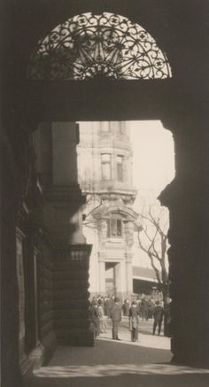 The former Queen Victoria Building (Collins and Swanston - demolished for City Square as viewed through the Town Hall portico. Old Pictures, Old Photos, Vintage Photographs, Vintage Photos, Victoria Building, Historic Houses, Melbourne Victoria, Melbourne Australia, Town Hall