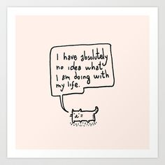 Little Cat Art Print by Kitten Rain