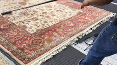 Dusting is a VITAL part of cleaning area rugs. Rugs accumulate a tremendous quantity of dust, sand as well as dirt. This is why before we clean rugs, we take them to the back of our plant to be dusted.