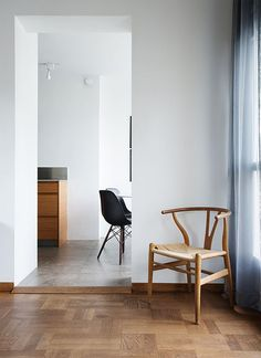 urbnite:  Eames Molded Side Chair (Eiffel Base)  Wishbone Chair by Hans Wegner