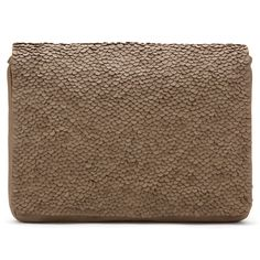 Oversized Leather Sequins Clutch