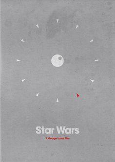 minimalist movie poster - Star Wars
