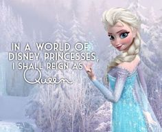 Elsa. this disney chick rocks my world. I am proud to add her to the line up of Disney in my heart.