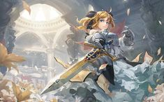 Wallpaper Beautiful, Saber Alter, sword, Fate