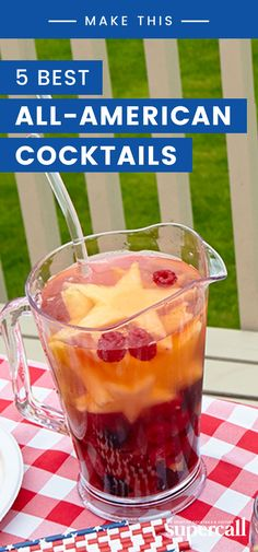So if you want to do it right this year, we suggest making these all-American cocktails. From shots that taste like apple pie to red, white and blue Sangria, these cocktails are as delicious as they are patriotic. American Apple Pie, American Cocktails, Cocktail Making, Party Entertainment, Sangria, Independence Day, Fourth Of July, Cocktail Recipes, Beverages