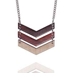 Triple Chevron Marina Necklace by amybengtson on Etsy, $58.00