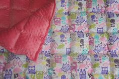 Owl weighted blanket with minky backing Starting at $77 www.etsy.com/shop/threehighchairs